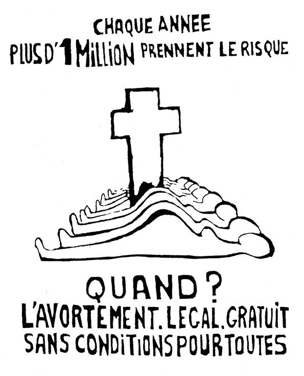 Affiche dessinée par Monique Bourou, 1970