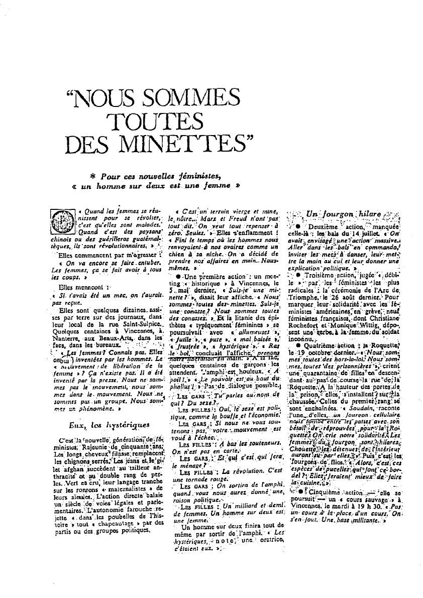 Retrouvez-ici un ensemble de documents sur la Génération MLF: www.antoinettefouque-mlf.com/documents