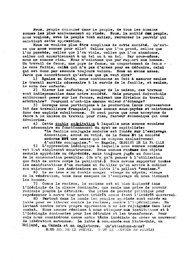 Tract de mobilisation pour la réunion de Villiers-le-Bel, avril 1970
